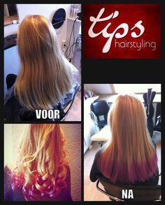 Dip Dye / Scene Hair bij www.tipshairstyling.nl