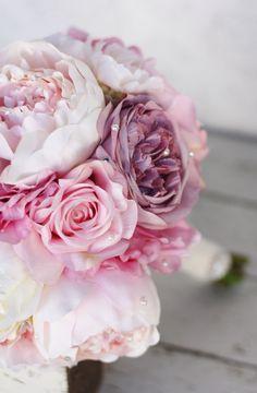 Silk Bride Bouquet Peony Pin... from braggingbags on Wanelo