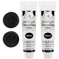 Black Buttercream Decorating Icing Tube
