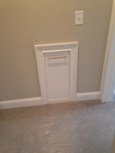 Laundry chute in the upstairs bath