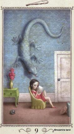 Nine of Wands - Nicoletta Ceccoli Tarot by Nicoletta Ceccoli