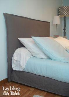 ++++ diy Housse pour ma tête de lit et cache sommier: