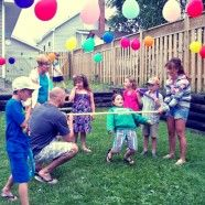 I like the hanging balloons! Fun Outdoor Kids Party Games