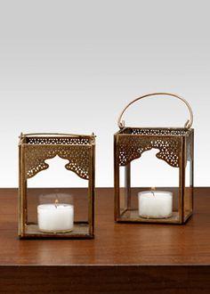 4 1/2in antique bronze mumtaz square lantern