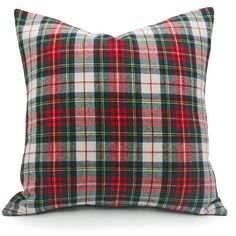 Red Christmas Pillow Cover 20x20 White Red Wool Plaid Pillows Tartan... (1 285 UAH) ❤ liked on Polyvore featuring home, home decor, throw pillows, decorative pillows, grey, home & living, home décor, red throw pillows, grey accent pillows and red toss pillows