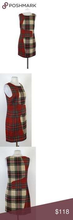 "Rag & Bone- Plaid Wool Sleeveless Dress Sz 6 This fun sleeveless shift dress features two contrasting plaid patterns. Layer a turtleneck underneath for extra warmth! Size 6 Body 100% Wool Lining 100% Bemberg Made in the USA Concealed side zip Shoulder to Hem 33"" Rag & Bone creates clothing that represents the history and authenticity of classic workwear, guided by strong British tailoring and an emphasis on fit, construction, and high-quality fabric. The line was founded in 2002 when…"