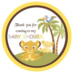 Tags Simba Lion King Shower Gift Tags - Baby Shower Gift Tags - partyexpressinvitations