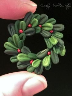 Polymer Clay Wreath by missfinearts