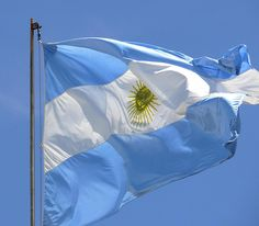 Argentina's Flag. The light blue represents truth, vigilance, loyalty, justice, and perseverance. The white represents honesty and peace. The sun is the sun of May.