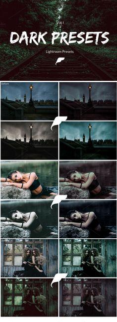 Lightroom Presets - Dark Presets by Filtercrave on @creativemarket
