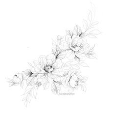 Flower Hip Tattoos, Floral Thigh Tattoos, Dot Tattoos, Body Art Tattoos, Small Tattoos, Floral Tattoo Design, Mandala Tattoo Design, Half Sleeve Tattoos Forearm, Vintage Tattoo Art