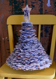 paper christmas tree:)