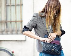 Crucial Interview Advice We've Never Heard Before via // patterned blazer, Chanel bag. Street Look, Street Chic, Interview Advice, Fashion Lighting, Who What Wear, Cute Shirts, Dress Me Up, Daily Fashion, Casual Chic