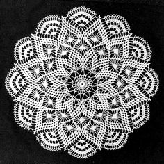 Crochet Projects Ravelry: Pretty Baby Doily pattern by Elizabeth Hiddleson Crochet Dollies, Crochet Lace, Cotton Crochet, Crochet Mandala, Filet Crochet, Easter Crochet Patterns, Knitting Patterns, Thread Crochet, Crochet Stitches