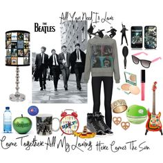 The Beatles! by renataletsflytoparis on Polyvore featuring moda, Forever 21, J Brand, Lanvin, Juicy Couture, Betsey Johnson, Clinique, Chanel, ULTA and TIGI