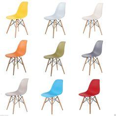Eames inspired Eiffel Retro DSW DSR Plastic Dining Office Lounge Chair Panton | eBay