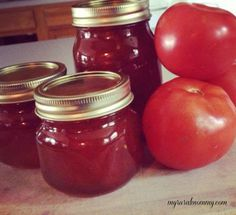 "Mom's ""secret"" Spiced Tomato Jam Recipe ....I'm thinking this would be good on Paninis!"
