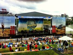 Riverfront stage in Nashville for the cma fest!