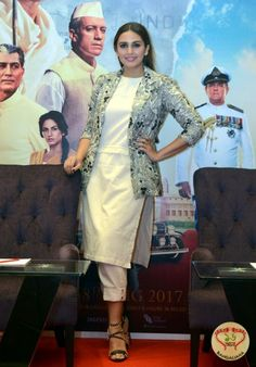 Huma Qureshi was in the city to promote the upcoming Bollywood film 'Partition: 1947'.