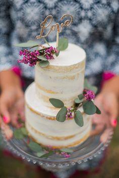 Gold glitter love cake topper