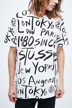 Stussy Scribble Tee in White - Urban Outfitters Wendy like, Julie Like Darius Like Jay Like