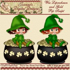 Wee Leprechaun and Gold PspScript $6.00 - 65% off all this month! :) The script ends in layers and has been tested in Psp 9 through X7. No plug-ins required. The finished image measures 1282x2042px at 300 dpi. CU4PU/S4H/S4O  Also available as a Photoshop layered template http://www.joannes-digital-designs.com/wee-leprechaun-and-gold-pspscript-p-2763.html