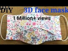 DIY FACE MASK/special mask/how to sew mask to prevent infection /handmade cloth mask - Masken - Schutz Easy Face Masks, Diy Face Mask, Sewing Hacks, Sewing Tutorials, Sewing Tips, Reuse Old Clothes, 3d Face, Sewing Projects For Beginners, Diy Mask