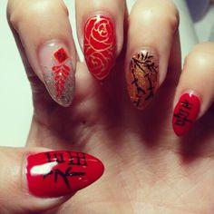 Chinese new year nails