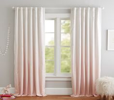 Printed with the softest ombré shading, this window panel brings a hint of sophisticated color into their space. The panel has a graceful drape and a blackout lining to help darken the room for better rest plus its Trade Certified͐ Blush Curtains, Ombre Curtains, Kids Blackout Curtains, Blackout Panels, Nursery Curtains Girl, Girl Nursery, Curtains For Girls Room, Taupe Nursery, Safari Nursery