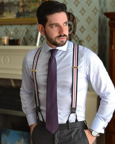 35 Pretty Men Suspender Outfit Ideas For Men To Try Asap Suit With Suspenders, Suspenders Outfit, Braces Suspenders, Groom Outfit, Suit And Tie, Mens Fashion Suits, Mens Suits, Men's Fashion, Fashion Ideas