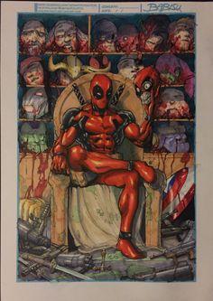 #Deadpool #Fan #Art. (Deadpool - Trophy Room) By: Babisu Kourtis. ÅWESOMENESS!!!™ ÅÅÅ+