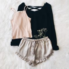 Loreli Shorts, Willow Tank, & Everly Sweater.