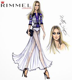 #Hayden Williams Fashion Illustrations #Hayden Williams x Rimmel London LFW look 2