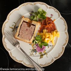Kalbfleisch-Schinken-Quitten-Pastete