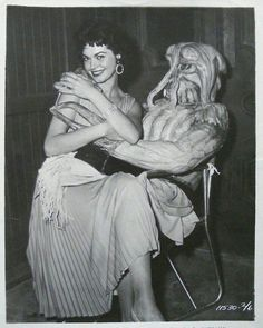 Gloria Talbott on the set of I Married a Monster from Outer Space (1958)