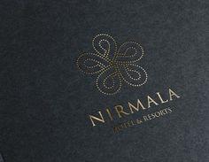 Nirmala Hotel : Logo Design on Behance H Hotel, Hotel Logo, Hotel Branding, Dark Brown Color, Dark Colors, Light Colors, Brown Colors, Candle Branding, Warm Grey