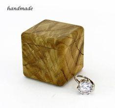 Small wooden box Wood engagement ring box Wooden ring box