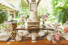 soft cake layers and sweets table // photo by cptphotography.com