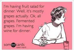 Wine for dinner.