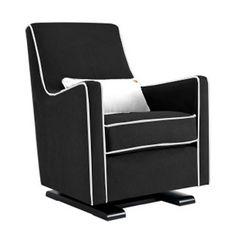 Black Rocking Chair For Nursery Glider Modern Furniture