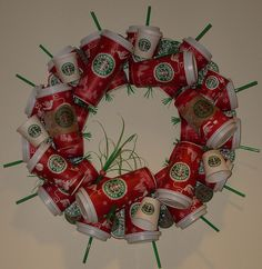 Starbucks Wreath by thedaisychick, via Flickr