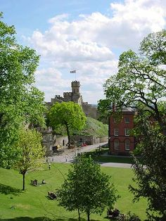 Lincoln Castle. This photo was was also taken from the ramparts of Lincoln Castle. On the right you can see part of the building which houses one of the 4 surving original Magna Cartas sealed by King John in 1215. - Lincoln Castle at PicturesofEngland.com where you can explore the beautiful country of England with photos, history, facts, maps and more.