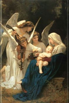 Virgin Mary with her Guardian Angels Blessed Mother Mary, Blessed Virgin Mary, Catholic Art, Religious Art, Religious Pictures, Mary And Jesus, Holy Mary, Angels Among Us, Madonna And Child