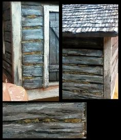 How to paint to look like old log. This is very easy way to paint  look like to old log!  http://makingscalemodels.blogspot.fi/2015/02/how-to-paint-to-look-like-old-log.html