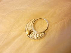Crescent septum ring. Indian Tribal Belly Dance by BeleafJewelry, $62.00