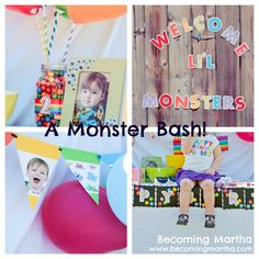 Becoming Martha: A Monster Bash - monster party food, favors, decor, and games.      @Lisa Frank - here's the monster party we threw last month if you want to check it out!  Hope you enjoy :)
