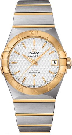 Omega Constellation 123.20.38.21.02.009 Mens 38mm Co-Axial Two Tone Swiss Luxury Watch - Buy Now Guaranteed 100% Authentic with FREE Shipping at AuthenticWatches.com