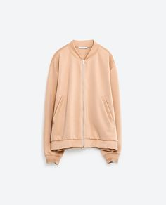 Image 8 of SATIN STRETCH BOMBER JACKET from Zara