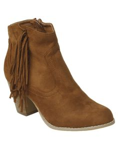 Fringe Side Ankle Boot  | Shop Clearance at Wet Seal