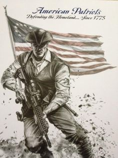 This drawing is the first installment of the American Patriots Series. I tried to portray the Spirit of our American Patriots who will not bow down to tyranny – American Freedom, American Pride, American Flag, American History, Military Humor, Military Art, Military Quotes, Military Pictures, Patriotic Posters